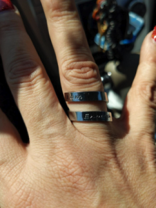 "Adjustable ""I Am Enough"" Stainless Steel Ring photo review"