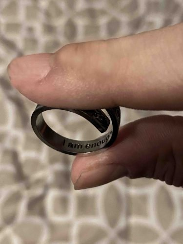 "Adjustable ""I Am Enough"" Ring Waves photo review"